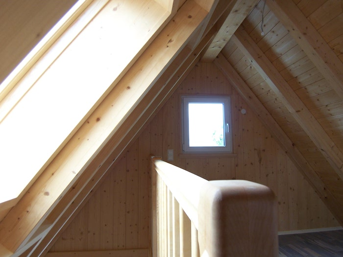 Dach Empore Massivholzhaus