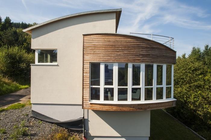 Holzhaus Rundungen 3 Dimension